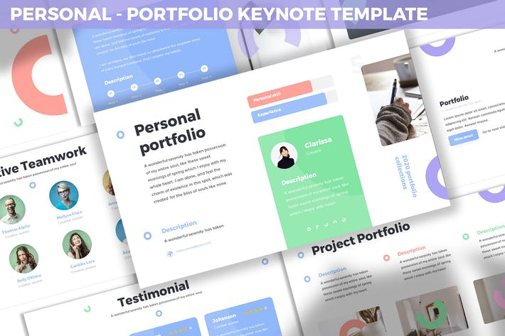Thumbnail for Personal - Portfolio Keynote Template