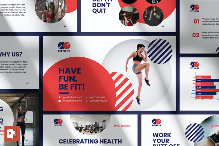 Thumbnail for Fitness Trainer PowerPoint Presentation Template