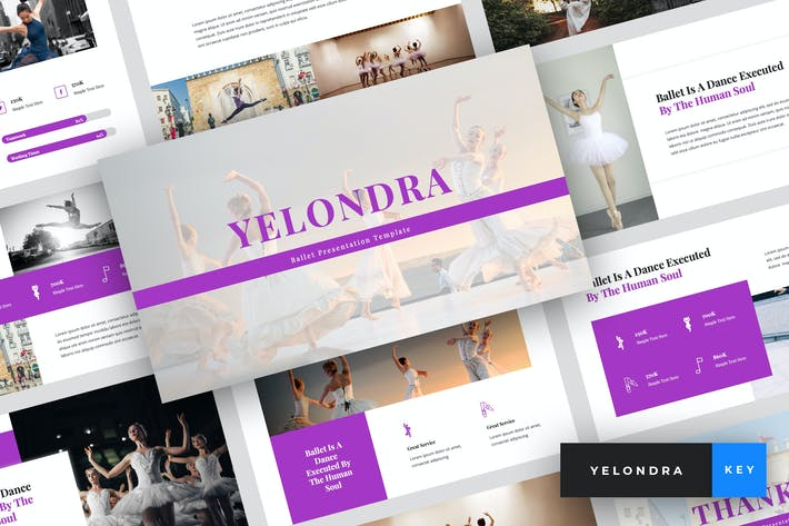 Thumbnail for Yelondra - Ballet Keynote Template