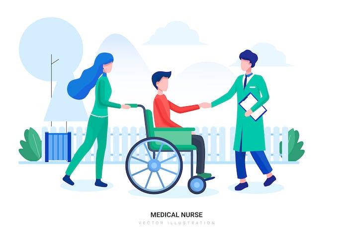 Medical Nurse Vector Illustration