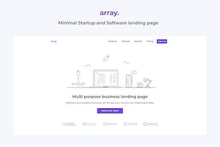 Vorlage für minimale Zielseite für Array