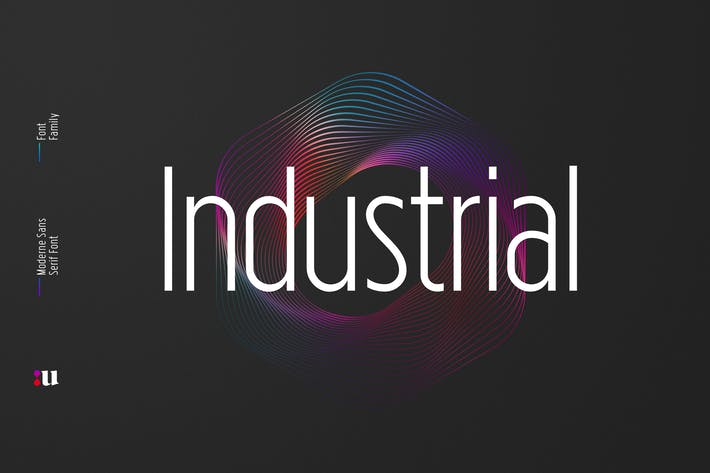 Thumbnail for Industrial Sans Typeface