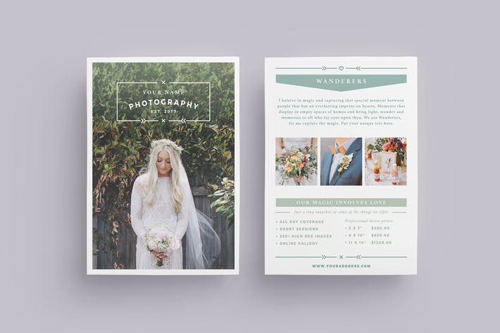 wanderers wedding flyer price list by fortysixandtwo on envato elements