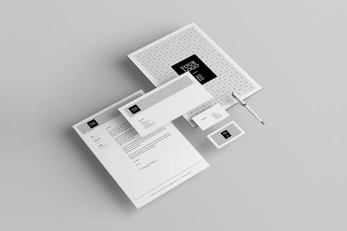 Thumbnail for Minimal Black & White Stationery