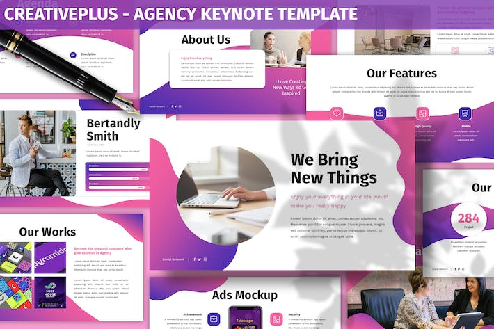 Thumbnail for Creativeplus - Agency Keynote Template