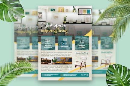 Home Interior Design Flyer