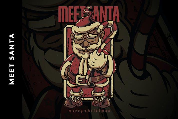 Thumbnail for Meet Santa Christmas Illustration