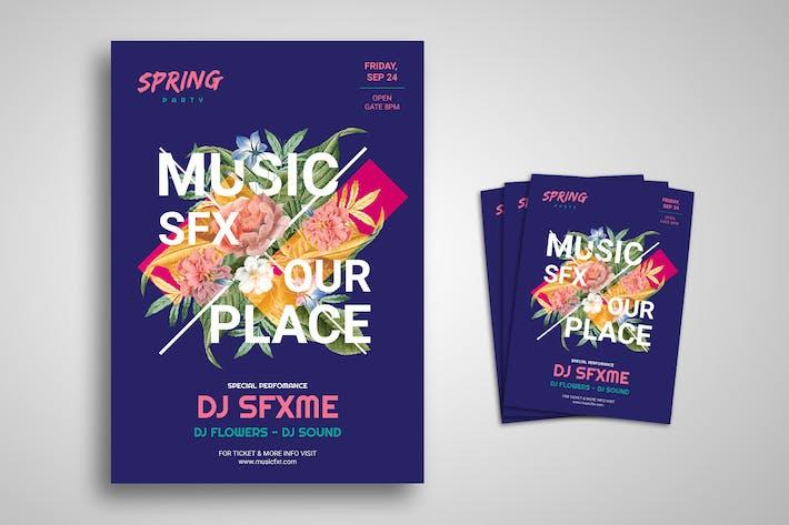Thumbnail for Frühling und Sommer Party Festival Promo-Flyer