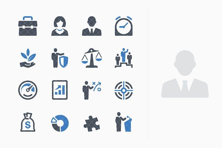 Thumbnail for Conjunto de Íconos de negocios 1 - Serie azul