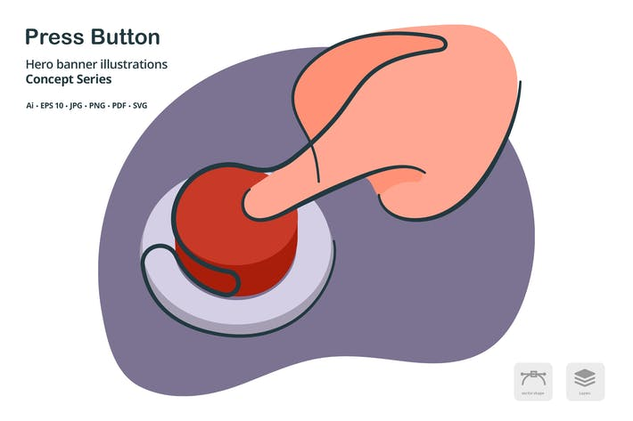 Thumbnail for Press Button Vector Illustration