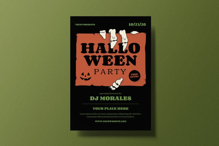 Thumbnail for Halloween Party Flyer