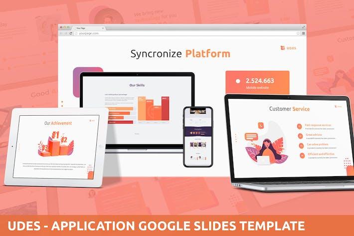 Udes - Application Google Slides Template