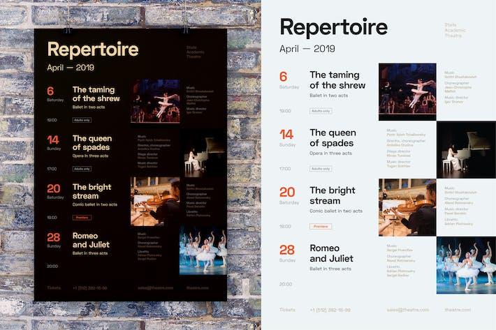 Thumbnail for Modèle d'affiche de calendrier #7