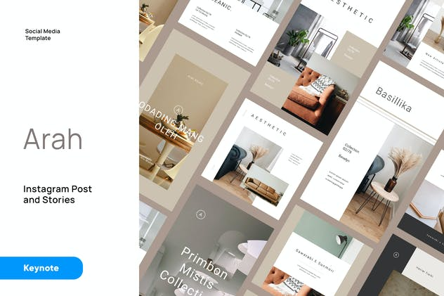Arah - Architecture Instagram Kit Keynote Template