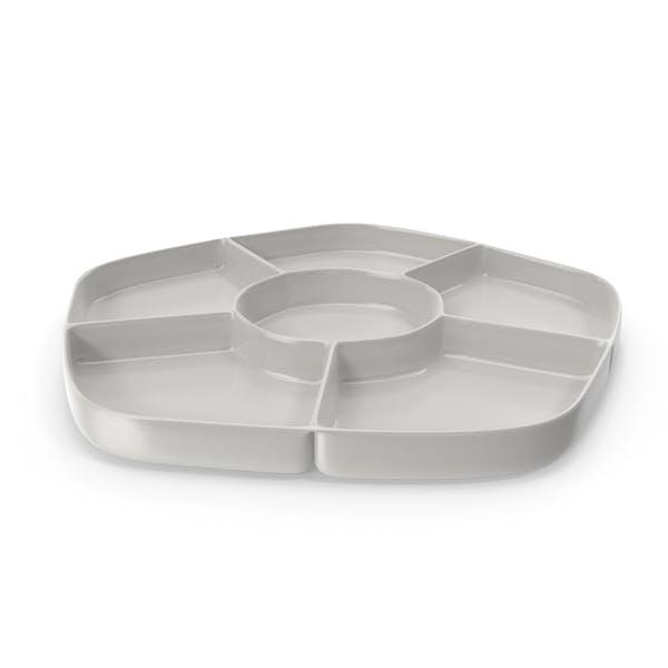 Porcelain 6 Compartment Bowl
