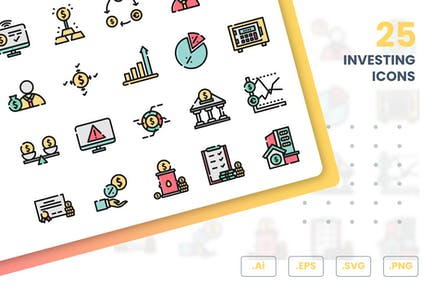 Investing Icons Set