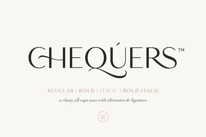 Thumbnail for Chequers - Modern Sans Con serifa