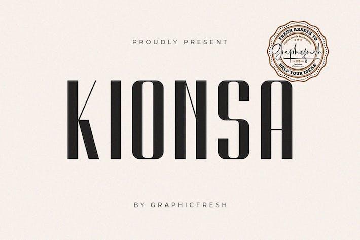 Thumbnail for Kionsa - Une police ultra condensée