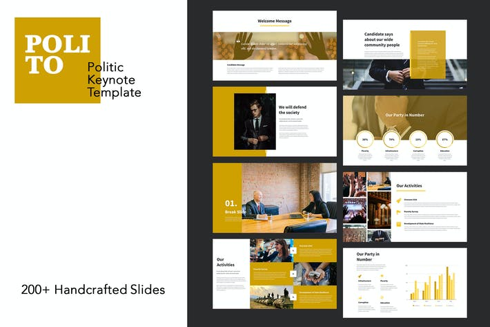 Thumbnail for Polito - Politics Keynote Templates
