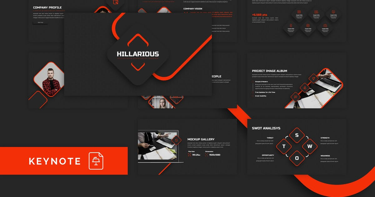 Download Hillarious - Multipurpose Keynote Template by CocoTemplates