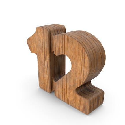 12 Wooden Number