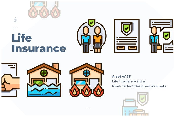 Cover Image For 25 Insurance Icon set