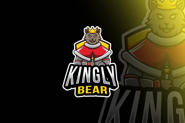 Thumbnail for Kingly Bear Esport Logo Template