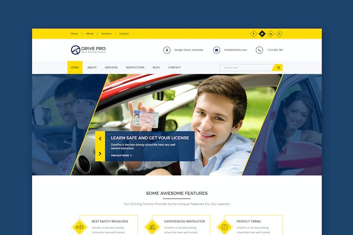 Thumbnail for Drive Pro : Driving School HTML Template
