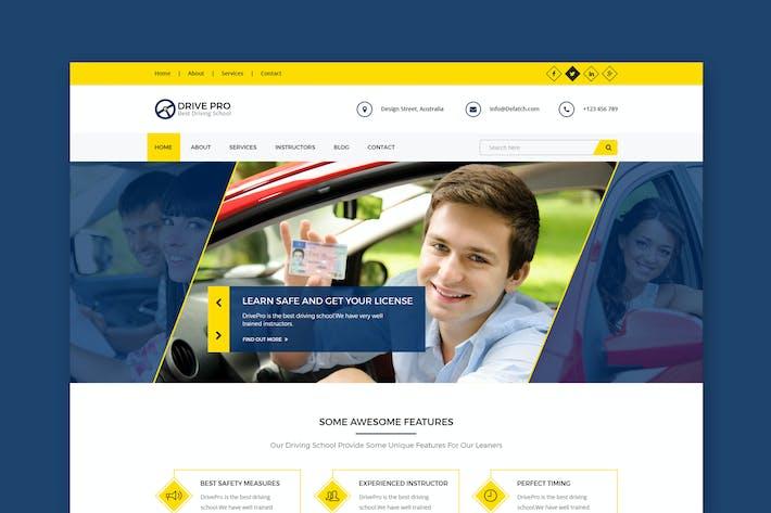 Drive Pro : Driving School HTML Template