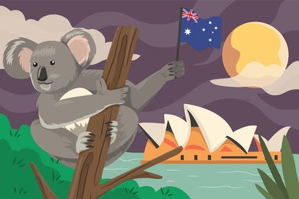 Australia Independence Day - Illustration