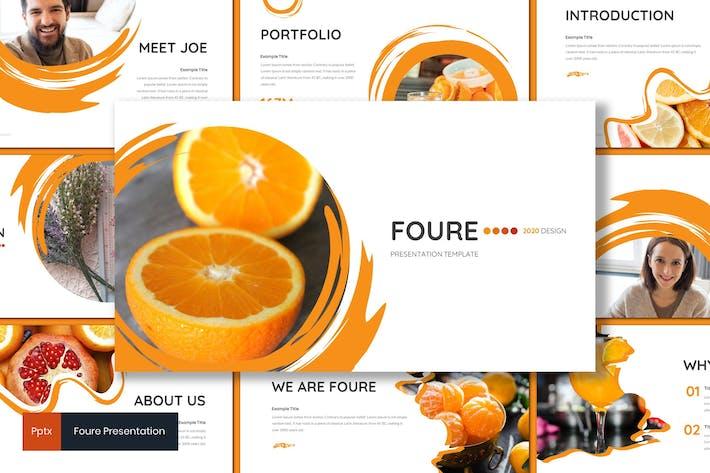 Foure - оранжевый Шаблон Powerpoint