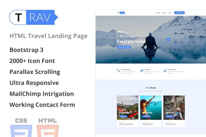 Trav | Travel HTML Landing Page