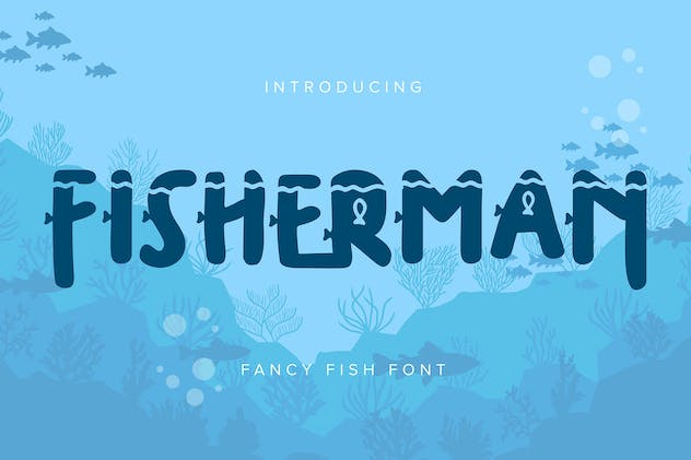 Fisherman | Fancy Fish Font