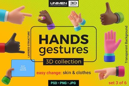 Жесты рук 3D