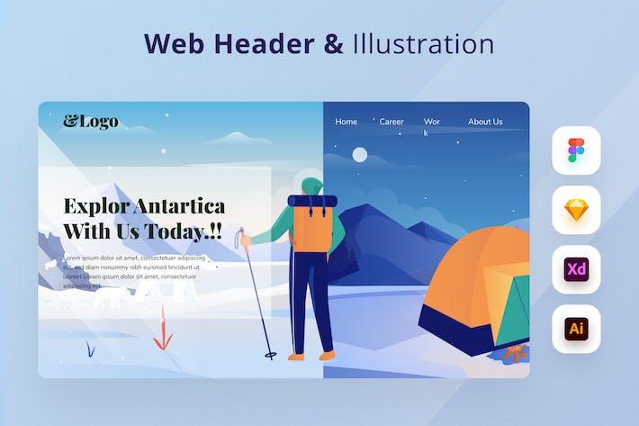 Traveling Web Header
