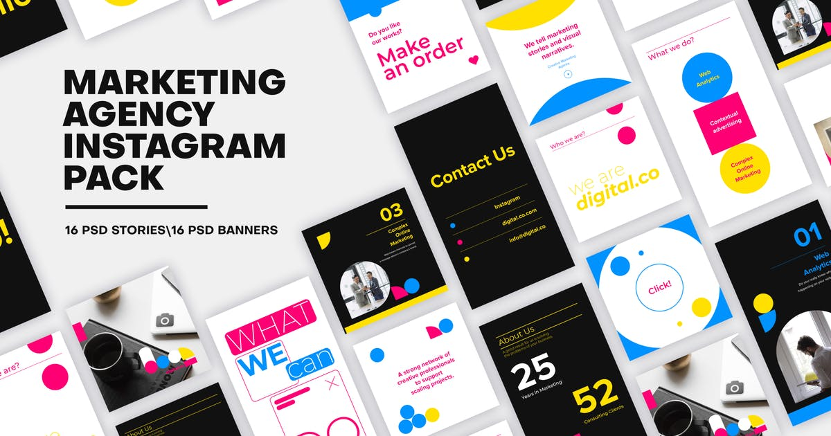 Download Marketing Agency Instagram Media Pack by MotionMediaGroup