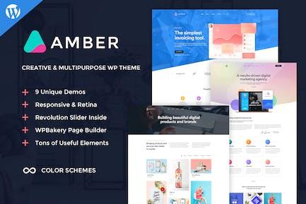 Amber Six - Creative WordPress Theme