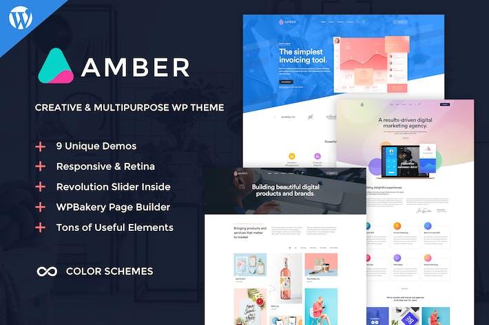 Cover Image For Amber Six - Creative WordPress Theme