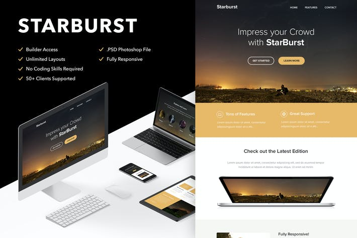 Thumbnail for Starburst - Responsive Email + Themebuilder Access