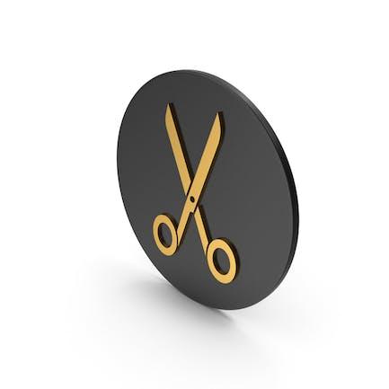 Scissors Gold Icon