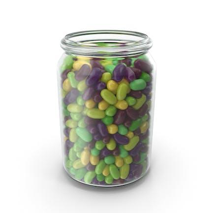 Glas mit tropischen Aromen Jelly Beans