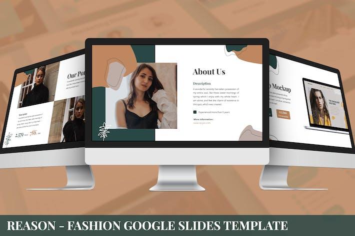 Причина - Мода Google Слайды Шаблон
