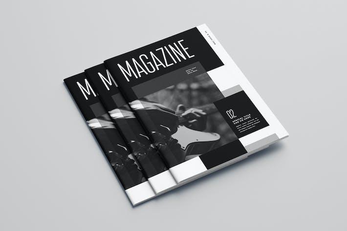 Cover Image For Modern Black & White Music Magazine