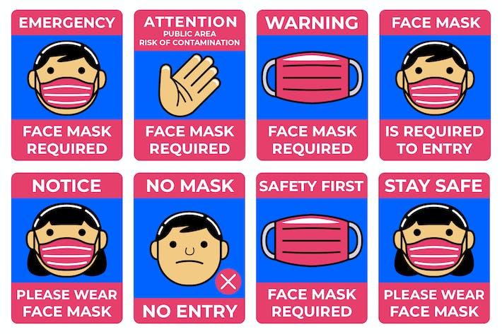 Thumbnail for Gesichtsmaske Erforderliches Zeichenpaket