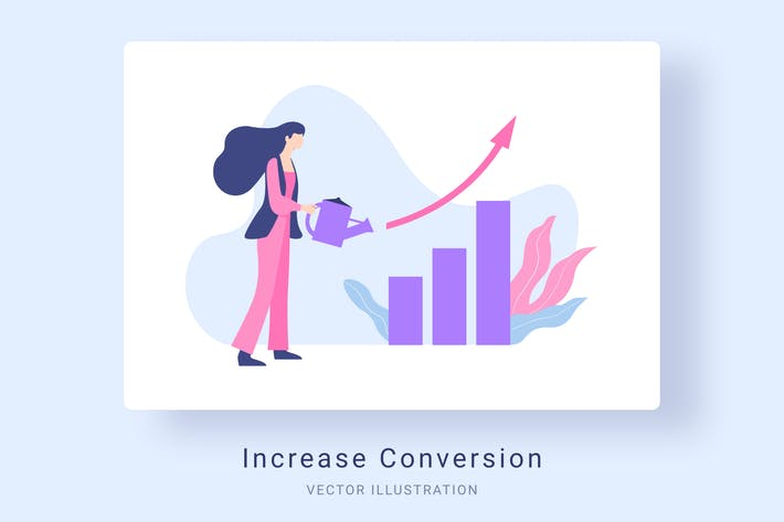 Thumbnail for Increase Conversion Rate Vector Illustration