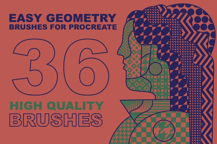 Thumbnail for кисти Procreate «Easy Geometry»