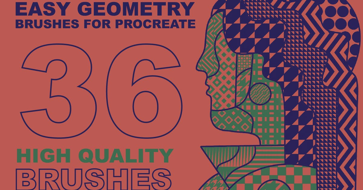 """Download Procreate """"Easy Geometry"""" brushes by a_slowik"""