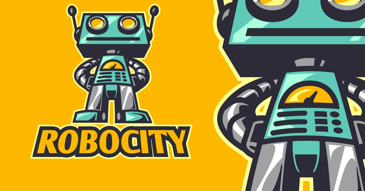 Download Vintage Retro Robot Mascot Logo by Suhandi