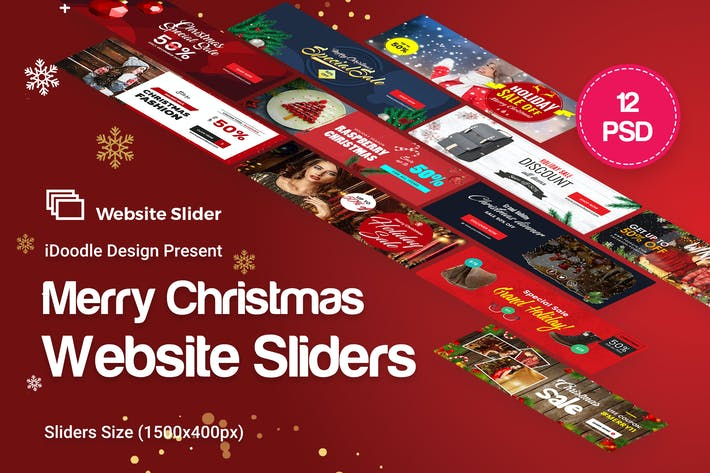 Thumbnail for Holiday Sale, Christmas Website Sliders