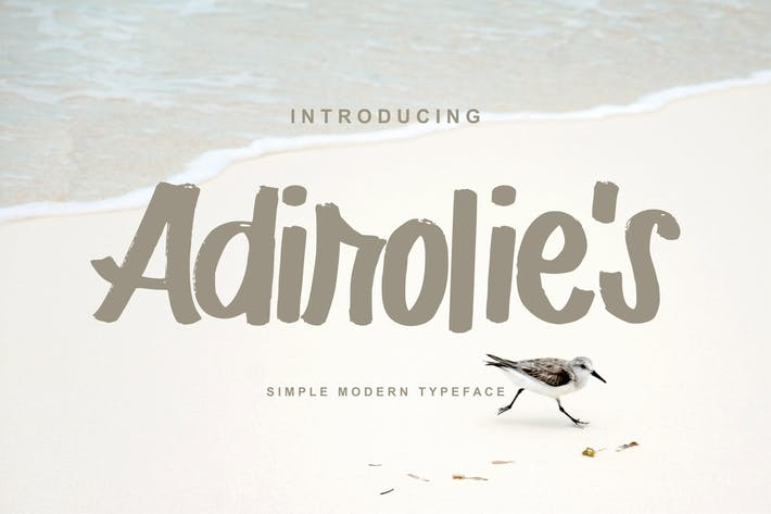 Thumbnail for Adirolie's | Simple Modern Typeface Font